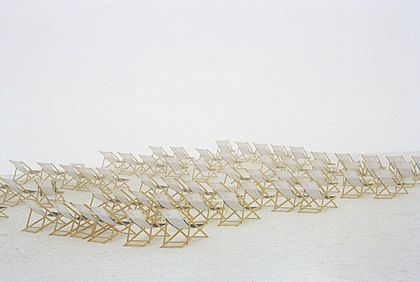 Deck Chairs in Snow