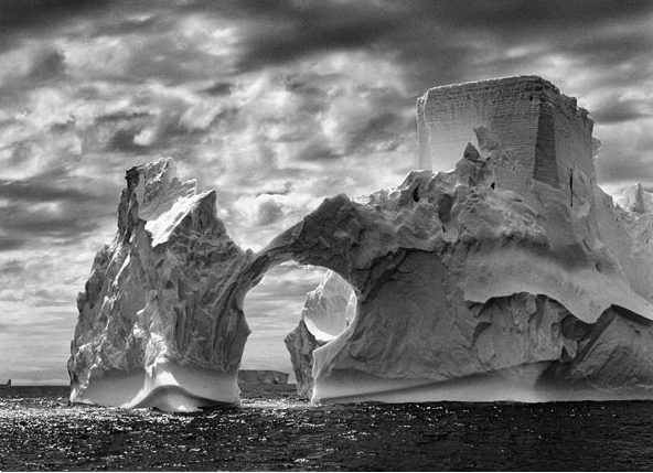 An iceberg in Antartica, photographed in 2005.