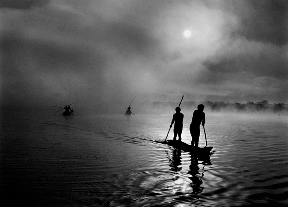 Fishermen in Mato Grosso, Brazil, a 2005