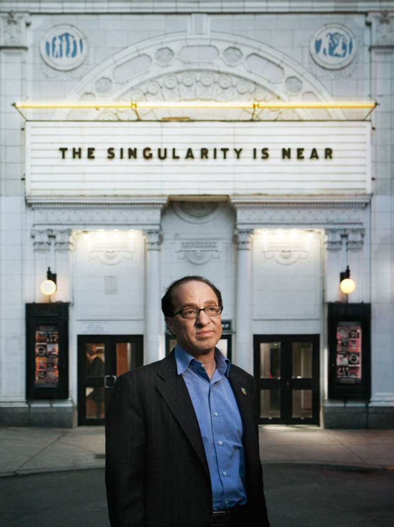 Ryan Schude's Portrait of Ray Kurzweil
