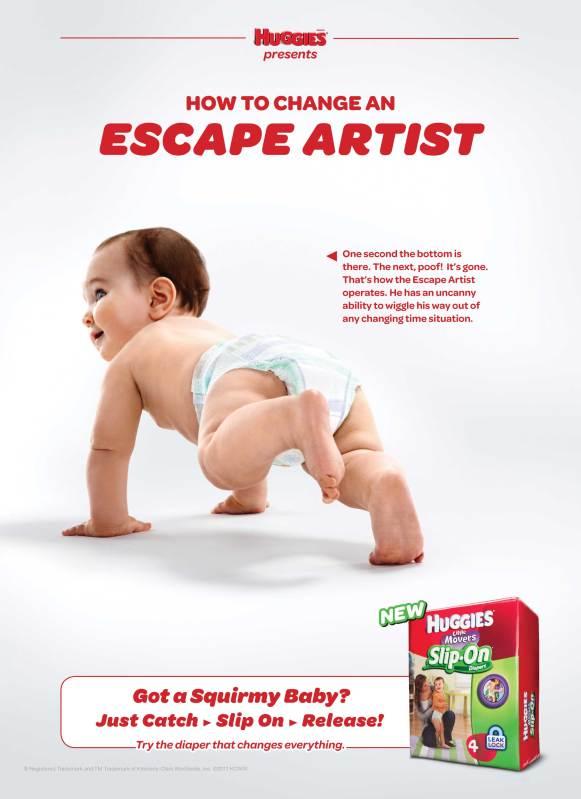 Evan Kafka - Huggies Slip-Ons Escape Artist