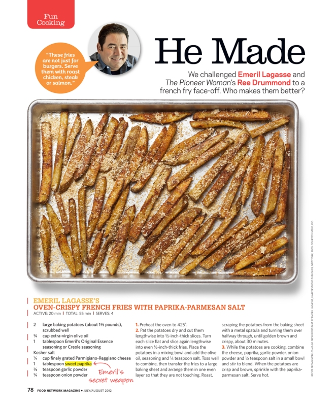 Food Network Magazine He Made French Fries Stone Thrower