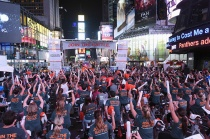 Cycle For Survival, time square, cancer, nyc