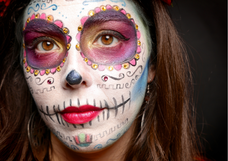 Roj Rodriguez And Faces Of Day Of The Dead Stone Thrower